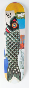 General Americana, After Robert Rauschenberg . Doubleluck, 2017. Screenprint on skate deck. Limted Edition of 300. 31 x 8 inches (78.7 x 20...