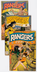Golden Age (1938-1955):War, Rangers Comics #16, 22, and 35 Group (Fiction House, 1944-47)....(Total: 3 Comic Books)