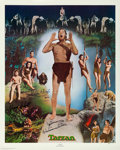 "Movie Posters:Adventure, Johnny Weissmuller as Tarzan Limited Edition Print (NostalgiaMerchant, 1977). Autographed Poster (24"" X 30"").. ..."
