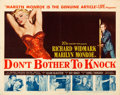 "Movie Posters:Film Noir, Don't Bother to Knock (20th Century Fox, 1952). Half Sheet (22"" X28"").. ..."