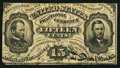 Fractional Currency:Third Issue, Fr. 1272SP/1276SP 15¢ Third Issue Glued Pair Very Good-Fine.. ...