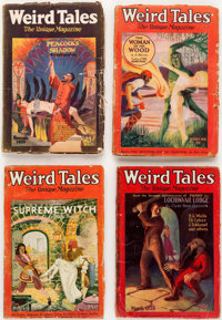 Weird Tales Group of 11 (Popular Fiction, 1926-28) Condition: Average FR.... (Total: 11 Items)