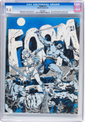 Magazines:Fanzine, Foom #14 (Marvel, 1976) CGC NM+ 9.6 White pages....
