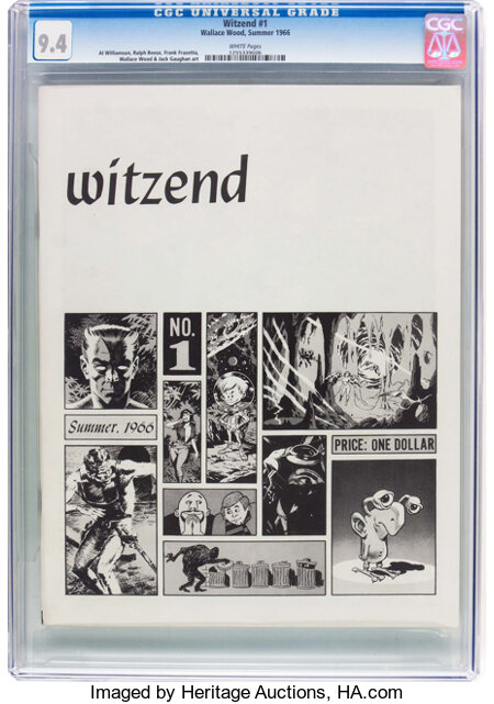 Witzend #1 (Wally Wood, 1966) CGC NM 9.4 White pages....