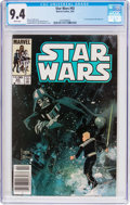Modern Age (1980-Present):Science Fiction, Star Wars #92 (Marvel, 1985) CGC NM 9.4 White pages....