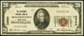 National Bank Notes:Maryland, Hagerstown, MD - $20 1929 Ty. 1 The Nicodemus NB Ch. # 12590. ...