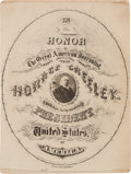 Political:Small Paper (pre-1896), Horace Greeley: Campaign Calligraphy Photograph....