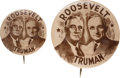 Political:Pinback Buttons (1896-present), Roosevelt & Truman: Jugates in Both Sizes....