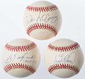 "Autographs:Baseballs, Baseball Greats ""500 Home Run Club"" Single Signed Baseballs Lot of3 - F. Robinson, McCovey & Yastrzemski...."