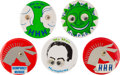 Political:Pinback Buttons (1896-present), Hubert Humphrey: Group of Wobbly-Eyes Buttons.... (Total: 5 Items)