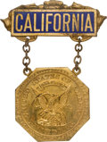 Political:Ribbons & Badges, Progressive (Bull Moose) Party: Rare California Delegates Badge to the 1916 National Convention....