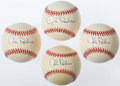 Autographs:Baseballs, Johnny Roseboro Single Signed Baseballs Lot of 4. ...