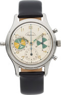 "Timepieces:Wristwatch, Heuer For Abercrombie & Fitch ""Seafarer"" Ref. 2443 Chronograph With Tide Indication, circa 1960. ..."