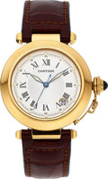 Timepieces:Wristwatch, Cartier Ref. 1028 Yellow Gold Pasha Automatic. ...