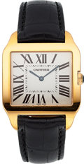 Timepieces:Wristwatch, Cartier Ref. 2650 Large Rose Gold Santos Dumont. ...