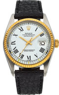 Timepieces:Wristwatch, Rolex Ref. 1601 Steel & Gold Oyster Perpetual Datejust, circa1977. ...
