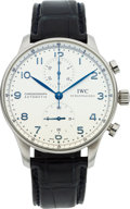 Timepieces:Wristwatch, International Watch Co. Ref. 3714 Steel Portuguese Automatic Chronograph. ...