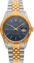 Timepieces:Wristwatch, Rolex Ref. 16263 Gent's Two Tone Oyster Perpetual Datejust,Thunderbird Bezel, circa 1996. ...