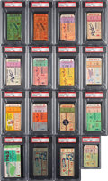 Baseball Collectibles:Tickets, 1952-64 Mickey Mantle World Series & All-Star Game Home RunsTicket Stubs Complete Run (16). ...