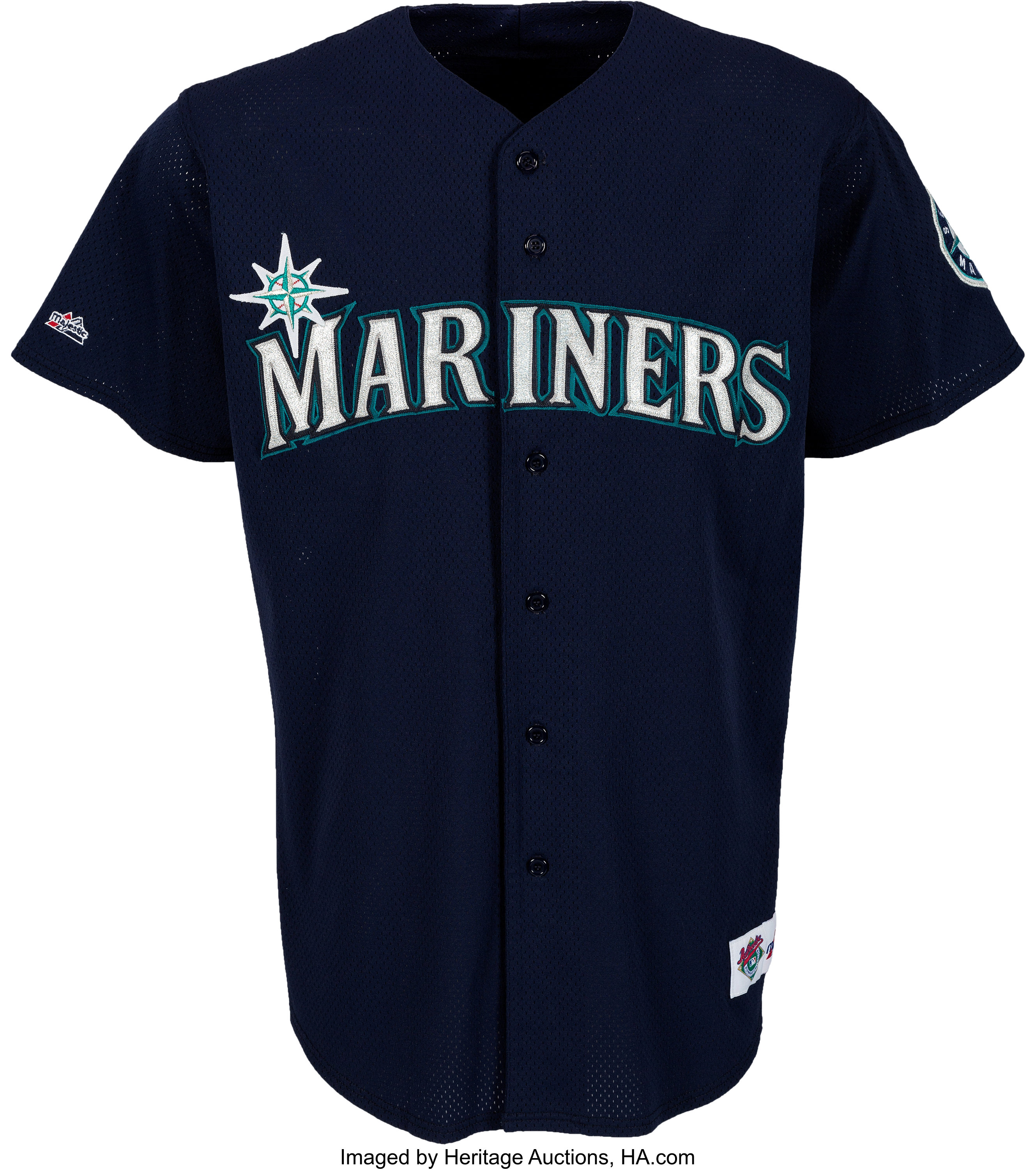 new styles 78ee8 7810c 1997 Ken Griffey, Jr. Game Worn Seattle Mariners Jersey with ...