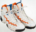 Basketball Collectibles:Others, Late 1990's Patrick Ewing Game Worn Signed Shoes....