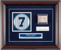 Autographs:Others, Mickey Mantle Signed Cut Signature Display. ...