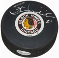 Hockey Collectibles:Others, Stan Mikita Signed Chicago Blackhawks Hockey Puck. ...