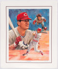 Baseball Collectibles:Others, Pete Rose Signed Lithograph....