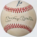 Autographs:Baseballs, Mickey Mantle and Billy Martin Multi Signed Baseball. ...