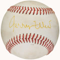 Autographs:Baseballs, Jerry West Single Signed Baseball. ...