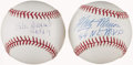 Autographs:Baseballs, Stan Musial and Marty Marion Single Signed Baseballs Lot of 2....