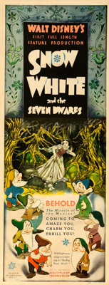 "Snow White and the Seven Dwarfs (RKO, 1937). Insert (14"" X 36"") Gustaf Tenggren Artwork"