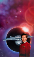 "Original Comic Art:Covers, Keith Birdsong Star Trek #76 ""The Captain's Daughter""Paperback Novel Cover Painting Captain Sulu Original Art (Po..."