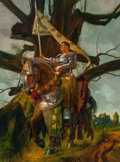 Other, Manuel Sanjulian (Spanish, b. 1941). A Knight. Acrylic on canvas. 36 x 48 in.. Signed lower right. ...