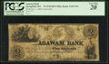 Obsoletes By State:Massachusetts, Springfield, MA- Agawam Bank Counterfeit $2 Oct. 1, 1863. ...