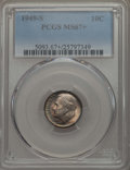 Roosevelt Dimes, 1949-S 10C MS67+ PCGS. PCGS Population: (278/4 and 21/0+). NGC Census: (1029/12 and 2/0+). Mintage 13,510,000. ...