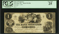 Obsoletes By State:Michigan, Ann Arbor, MI- The Bank of Washtenaw $1 May 1, 1854. ...