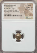 Ancients:Greek, Ancients: IONIA. Phocaea. Ca. 477-388 BC. EL sixth stater or hecte(2.53 gm). NGC Choice VF 4/5 - 4/5. ...