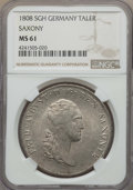 German States:Saxony, German States: Saxony. Friedrich August I Taler 1808-SGH MS61 NGC,...