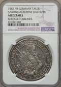 German States:Saxony, German States: Saxony. August Taler 1582-HB AU Details (Surface Hairlines) NGC,...