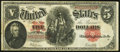 Large Size:Legal Tender Notes, Fr. 91 $5 1907 Legal Tender Fine-Very Fine.. ...