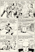 Original Comic Art:Panel Pages, Jack Kirby and Paul Reinman X-Men #2 Story Page 4 Original Art (Marvel, 1963)....