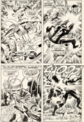 Original Comic Art:Panel Pages, Jack Kirby and Joe Sinnott Tales of Suspense #98 Story Page8 Captain America and Black Panther Original Art (Marv...
