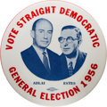 Political:Pinback Buttons (1896-present), Stevenson & Kefauver: Large Red, White and Blue Jugate....