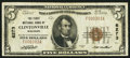 National Bank Notes:Wisconsin, Clintonville, WI - $5 1929 Ty. 1 The First NB Ch. # 6273. ...