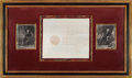 Autographs:U.S. Presidents, George Washington and Thomas Jefferson Appointment Signed....(Total: 3 Items)