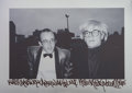 Photographs:Gelatin Silver, Ricky Powell (b. 1961). Keith Haring and Andy Warhol-NYC,1986. Gelatin silver on aluminum. 7-1/2 x 12 inches (19.1 x 30...