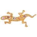 Estate Jewelry:Brooches - Pins, Multi-Stone, Gold Brooch. ...