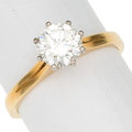 Estate Jewelry:Rings, Diamond, 18k Gold Ring. ...
