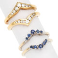 Estate Jewelry:Rings, Diamond, Sapphire, Gold Ring Jackets. ... (Total: 2 Items)